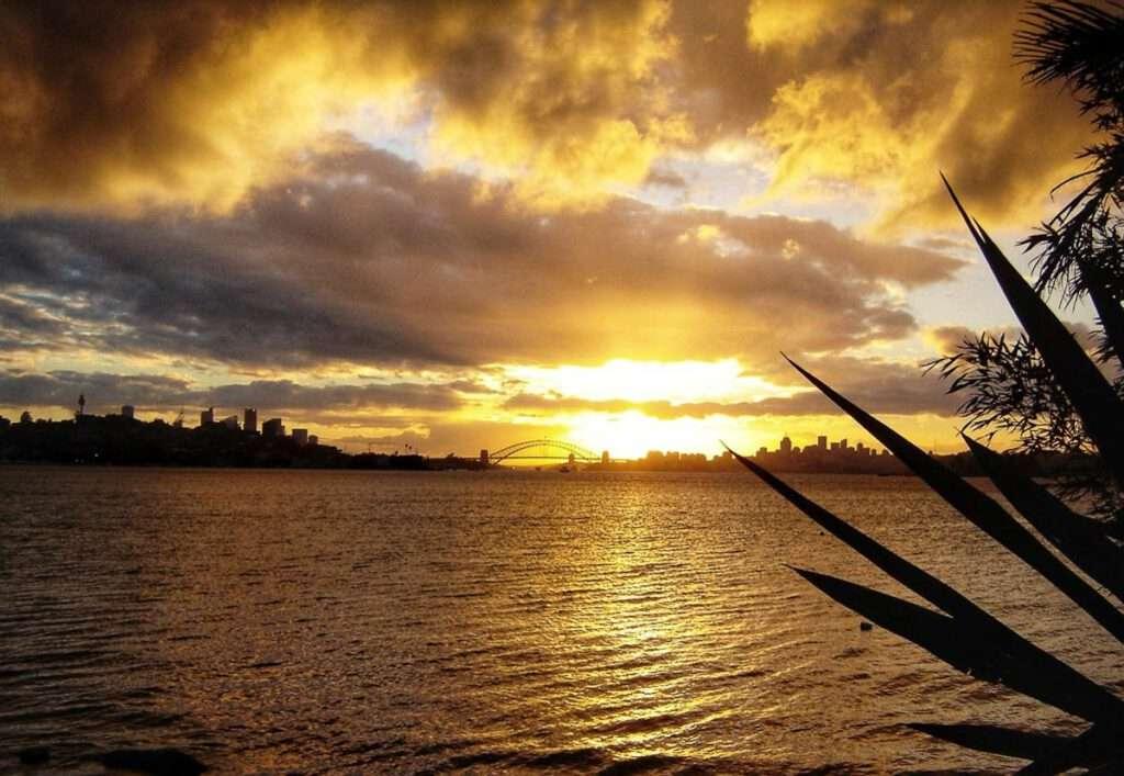 sunset sydney harbour